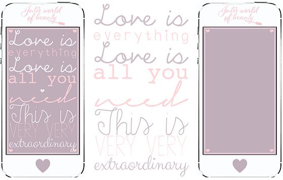 Fond d'Ecran iphone Love